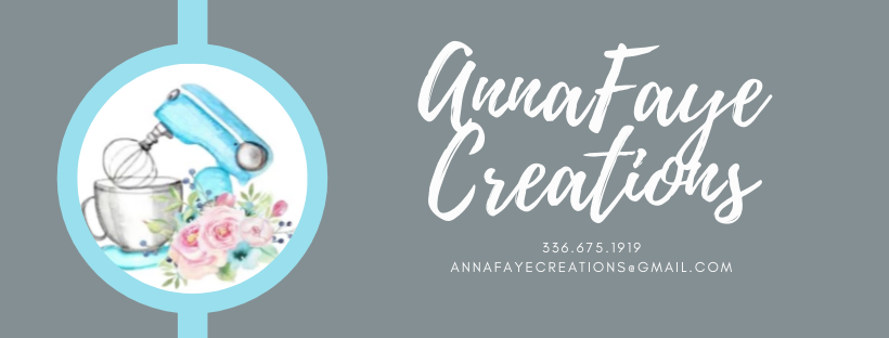 We are a local in-home bakery where we aim for perfection in the treats we make and the service we provide.  Please visit us at www.annafaye-creations.square.site